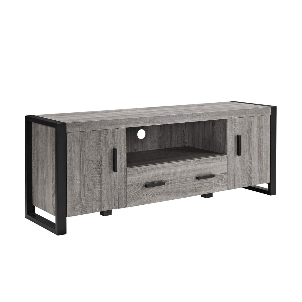 60 Urban Blend Tv Stand Console- Driftwood Entertainment