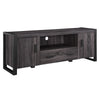 60 Charcoal Grey Wood Tv Stand Console Entertainment