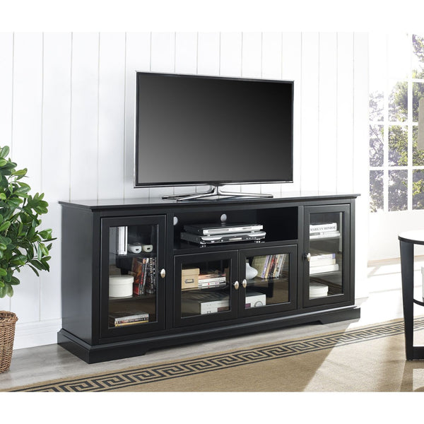 70 Black Wood Highboy Tv Stand Entertainment