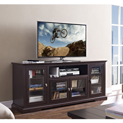 70 Highboy Style Wood Tv Stand - Espresso Entertainment