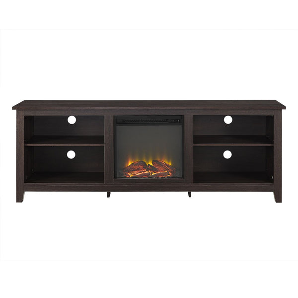 70 Fireplace Tv Stand - Espresso Entertainment