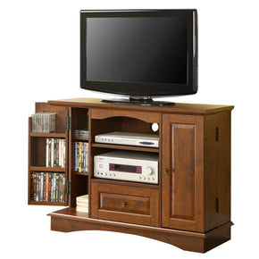 42 Brown Wood Highboy Tv Stand Entertainment