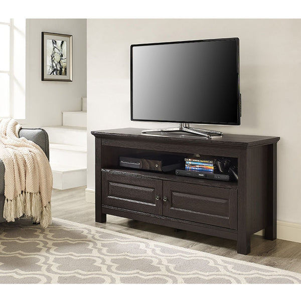 44 Espresso Wood Tv Stand Console Entertainment