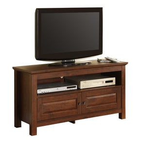 44 Brown Wood Tv Stand Console Entertainment