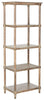 Odessa 5 Tier Bookcase Washed Natural Pine Etagere