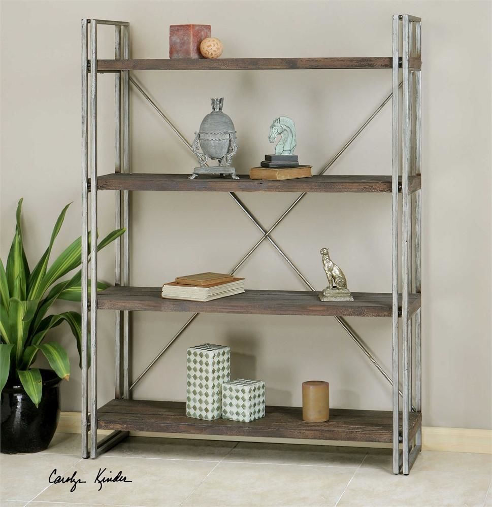 uttermost greeley metal etagere utt 24396 only at. Black Bedroom Furniture Sets. Home Design Ideas