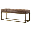 Darius PU Leather Bench Nubuck Chocolate