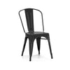 Dreux Matte Black Steel Stackable Side Chair (Set of 2)