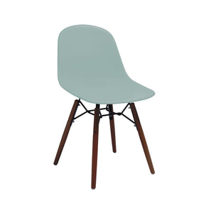 DesignLab MN LS-9441-SRFWAL Grazia Surfin Mid Century Side Chair Walnut Base Original Design (Set of 4) 646263991534