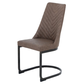 size 40 86e3a f44b8 Genuine Leather Dining Chairs at Contemporary Furniture ...