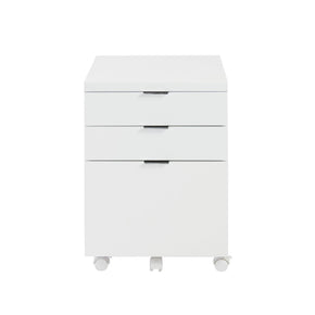 Gilbert 3 Drawer File Cabinet In White
