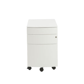 Floyd 3 Drawer File Cabinet In White
