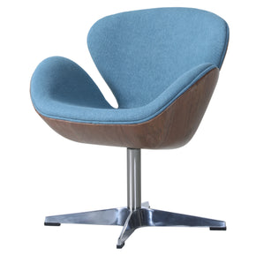 New Pacific Direct 6300043-274 Clayton Fabric Swivel Chair Flint Blue