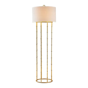 Brunei 1 Light Floor Lamp In Gold Leaf