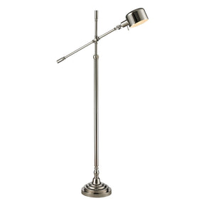 Stratsburg Chrome Adjustable Floor Lamp In Polished Nickel