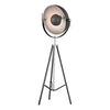 Backstage Adjustable Floor Lamp In Matte Black And Polished Nickel Black,polished