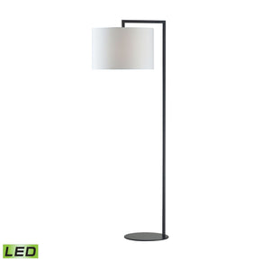 Bronze Stem Led Floor Lamp Matte Black