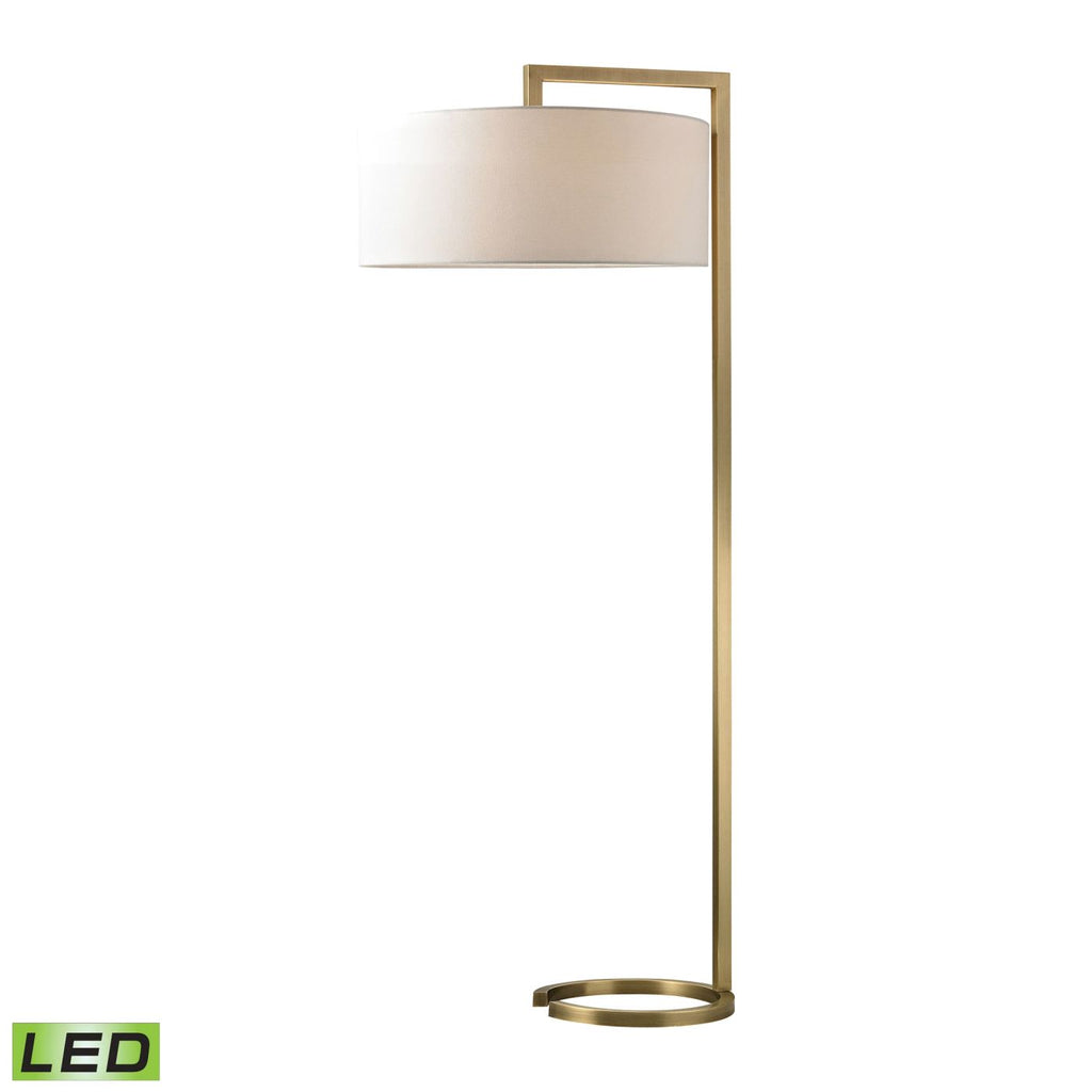 Ring Base Led Floor Lamp Antique Brass