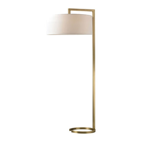 Ring Base Floor Lamp Antique Brass