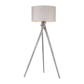 Whistler 1 Light Floor Lamp In Black Ash
