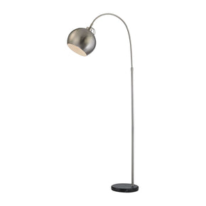 Nolita Floor Lamp In Brushed Nickel And Black Nickel,black