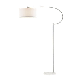 Floor Lamps - Elk Group ELK-D3025 Whitecrane 1 Light Floor Lamp In Satin Nickel And White Satin Nickel,White | 748119096278 | Only $332.00. Buy today at http://www.contemporaryfurniturewarehouse.com