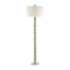 New Caledonia Floor Lamp Silver Leaf,white Marble