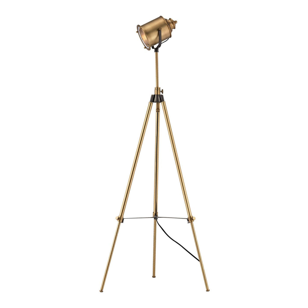 Ethan Floor Lamp In Aged Brass
