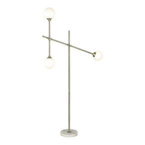 Trousedale Aged Brass,frosted White Floor Lamp