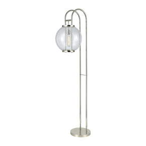 Orboculum Aged Pewter Floor Lamp