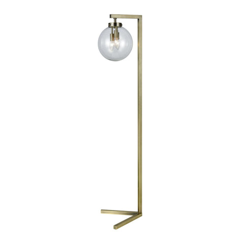 Carnegie Hill Floor Lamp Antique Brass