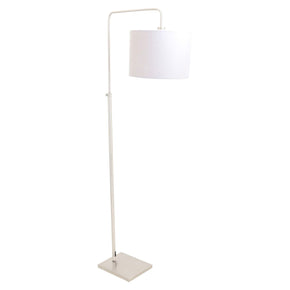 Apollo Floor Lamp Brushed Nickel Grey Shade