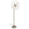 Ozzy Floor Lamp Satin Nickel