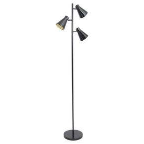Tres Floor Lamp Black Gold