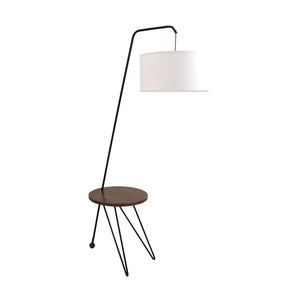 Stork Floor Lamp Walnut White