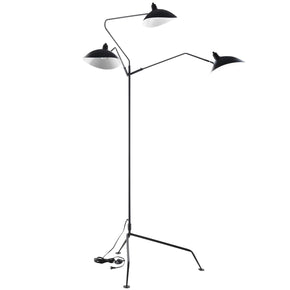 View Stainless Steel Floor Lamp Black