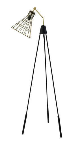 Antonello Floor Lamp Gold Iron Brass Hardware