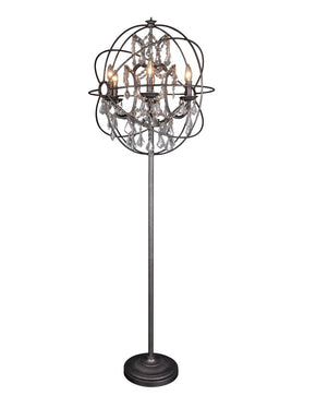 Adelina Floor Lamp Iron Crystal