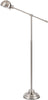Colton Industrial Floor Lamp Brushed Steel Silver