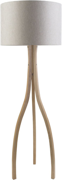Floor Lamps - Surya DXB773-FLR Duxbury Contemporary Floor Lamp Natural wood Beige | 888473206903 | Only $493.20. Buy today at http://www.contemporaryfurniturewarehouse.com