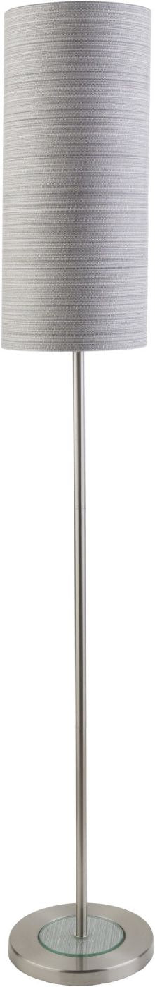 Kyoto Modern Floor Lamp Brushed Nickel Gray