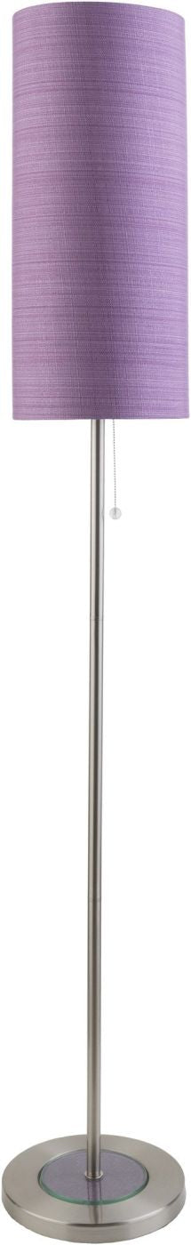 Kyoto Modern Floor Lamp Brushed Nickel Purple