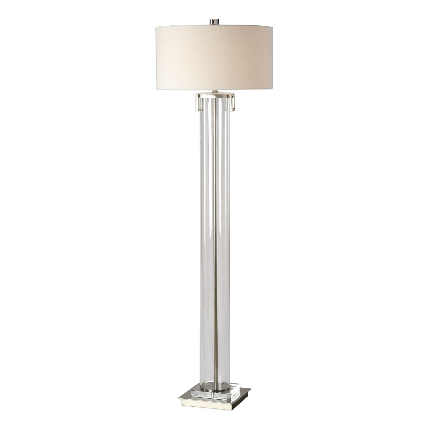 glass cylinder lamp silver lighting at contemporary furniture warehouse