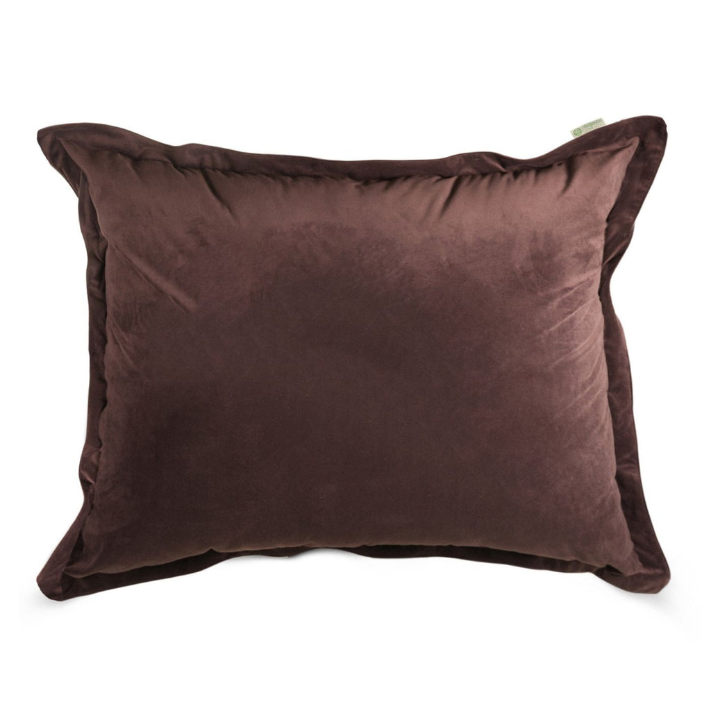 Dark Brown Micro-Velvet Floor Pillow