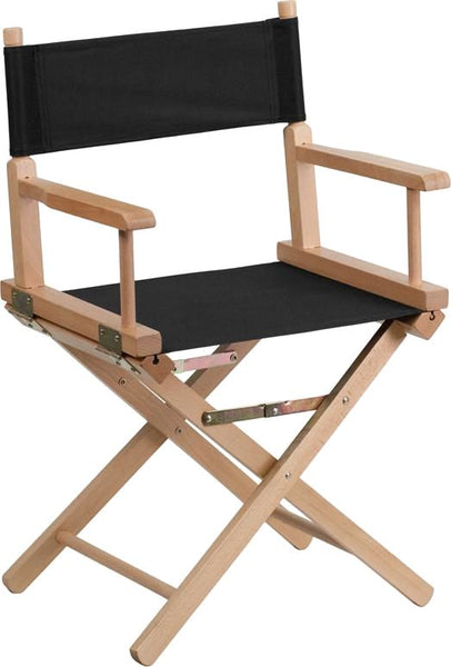 Standard Height Directors Chair In Brown Black Folding