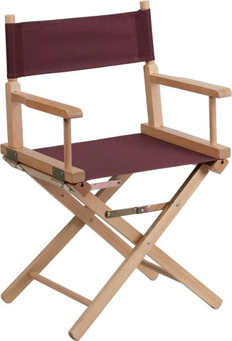 Standard Height Directors Chair In Brown Folding