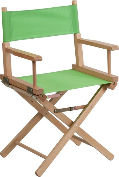 Standard Height Directors Chair In Brown Green Folding