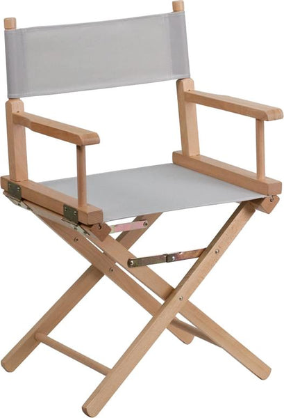 Standard Height Directors Chair In Brown Gray Folding