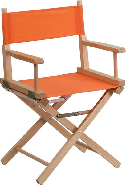 Standard Height Directors Chair In Brown Orange Folding
