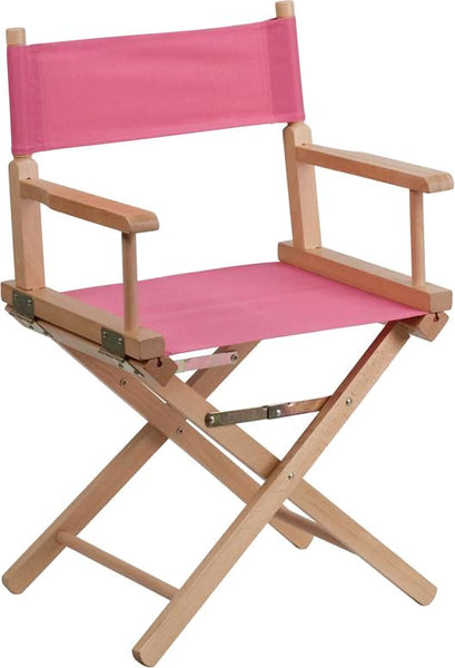 Standard Height Directors Chair In Brown Pink Folding